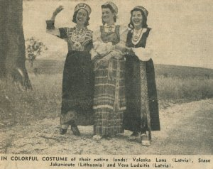 "Vera on the right. They were dubbed ""Beautiful Balts"" by the local press."
